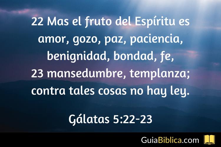 Frutos del espíritu santo
